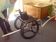Adapted wheelchair